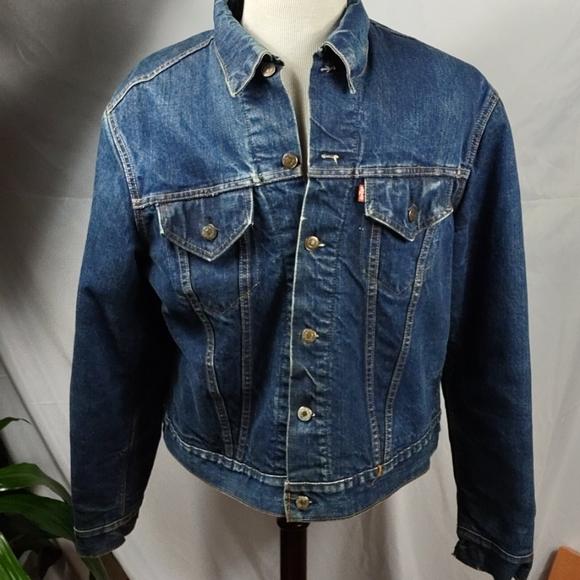 Vintage Levi's Blanket Lined Blue Jean Jacket
